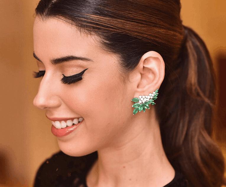 Ear Cuff verde de Camila Coutinho