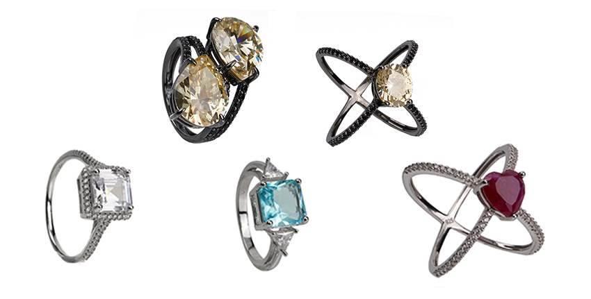 Anéis Semi jóias Delicados