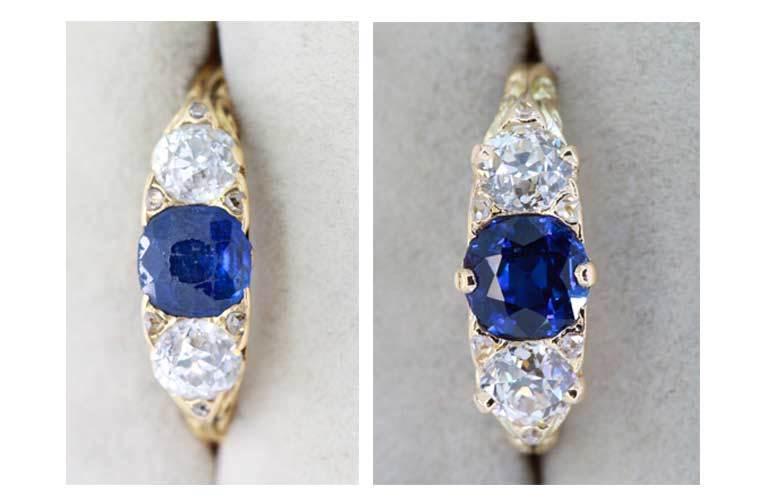 Semi jóias de luxo cuidados com atrito