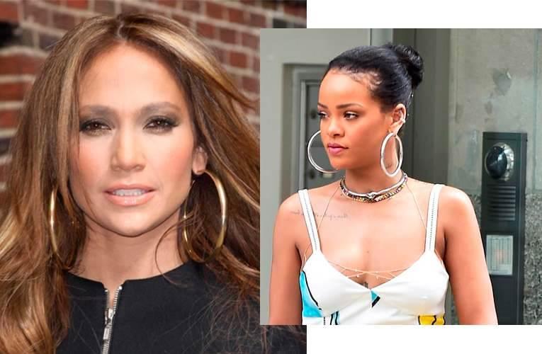 Brincos de Argola Rihanna e Jeniffer Lopez